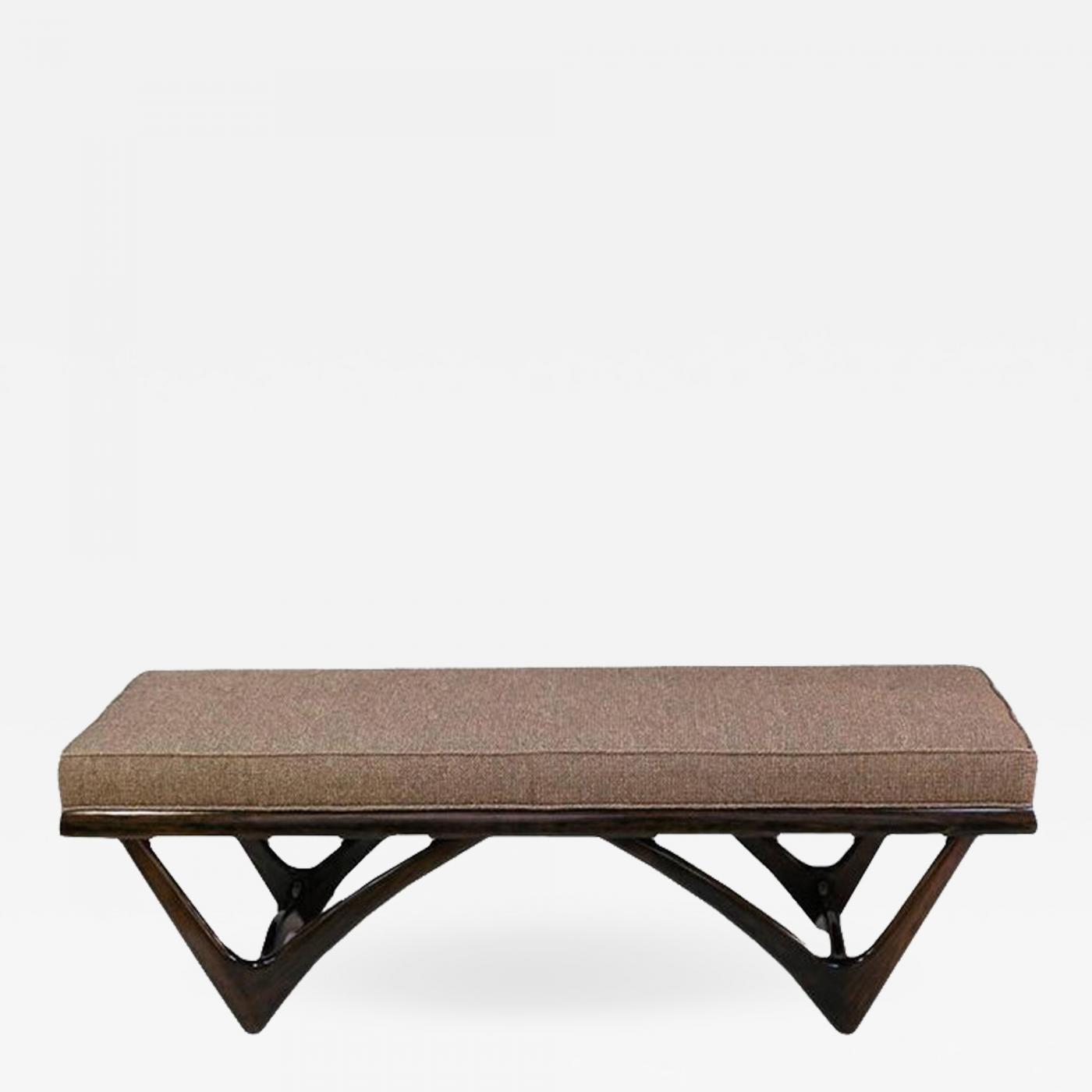 Adrian Pearsall Upholstered Walnut Bench