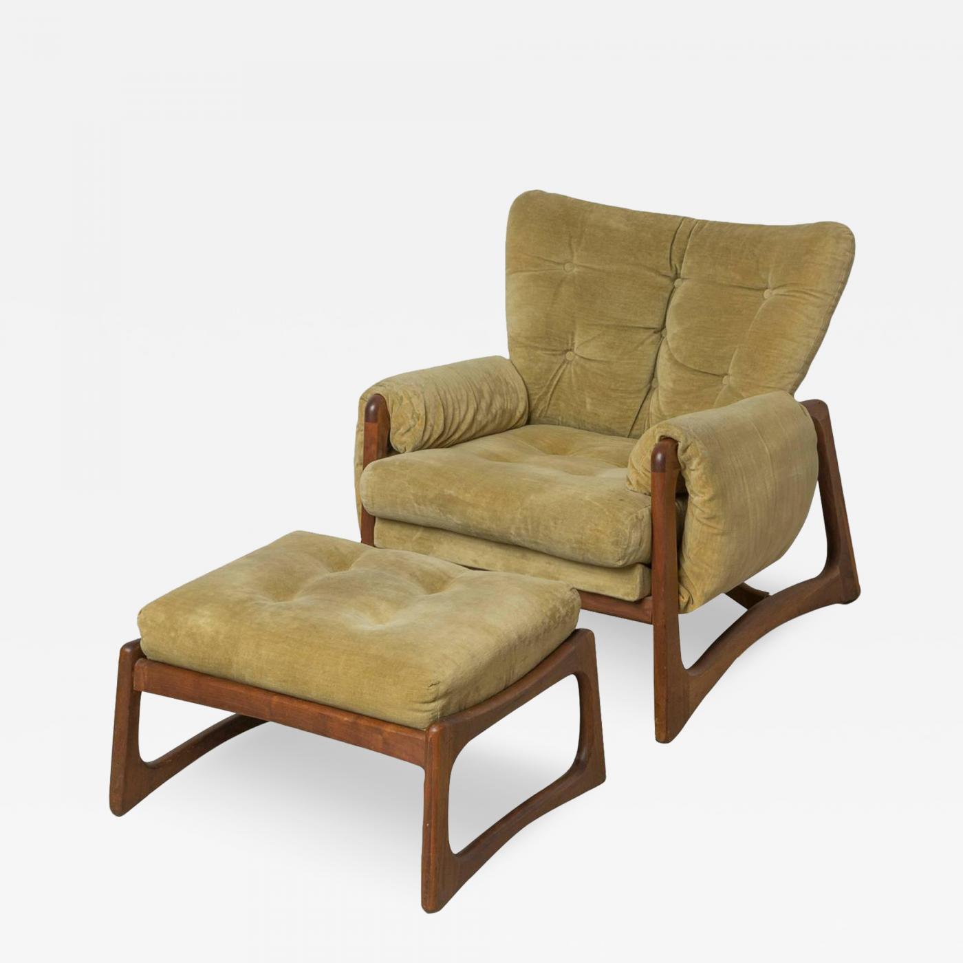 Adrian Pearsall Green Adrian Pearsall Lounge Chair & Ottoman
