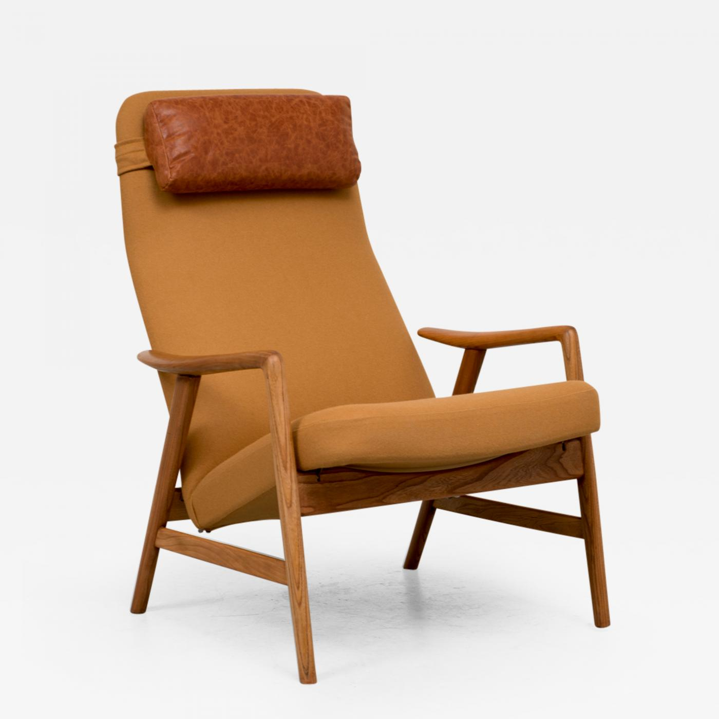Alf Svensson Alf Svensson Reclining Lounge chair for Fritz Hansen
