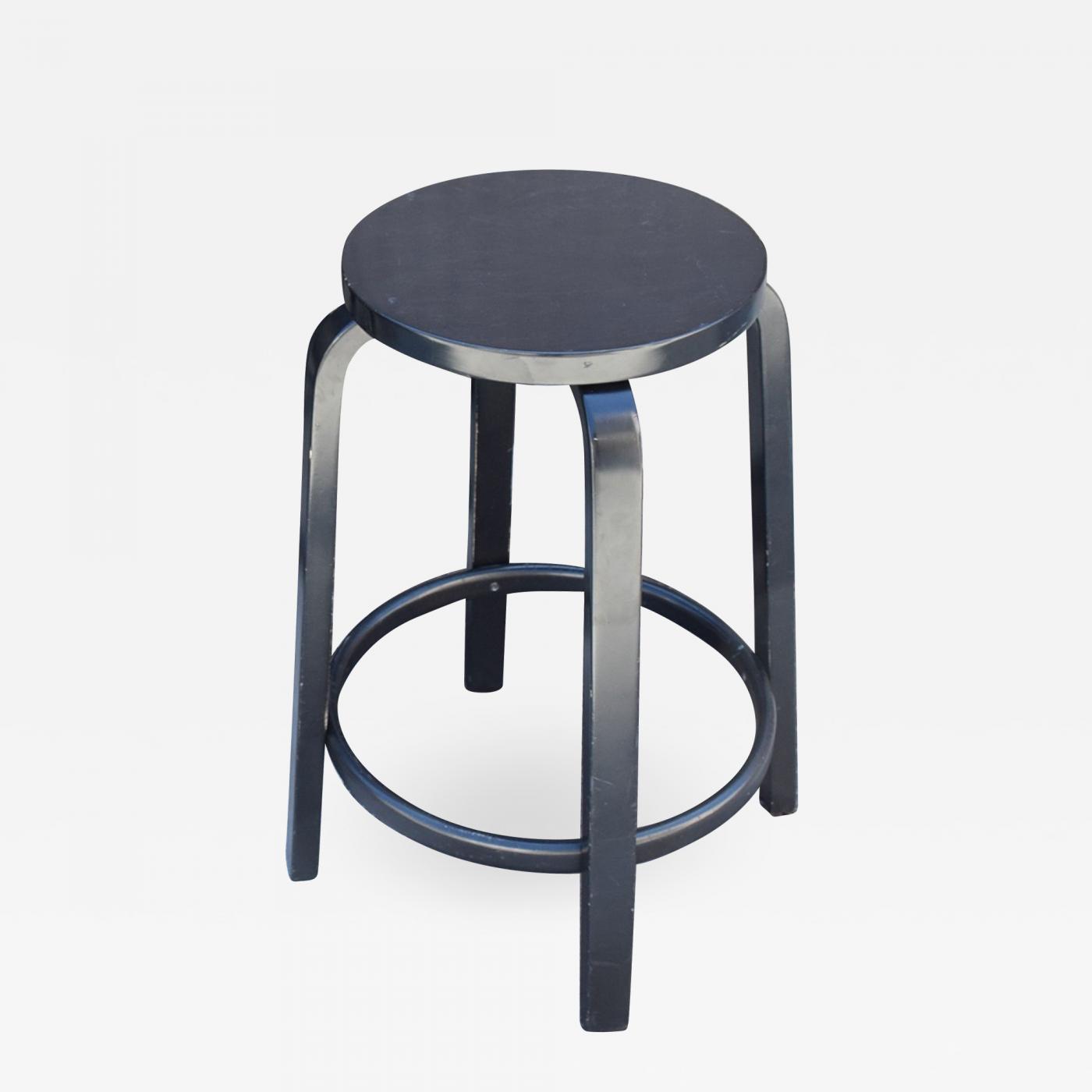 Image of: Alvar Aalto Artek Black Counter Height Bar Stool By Alvar Aalto Modern Finland