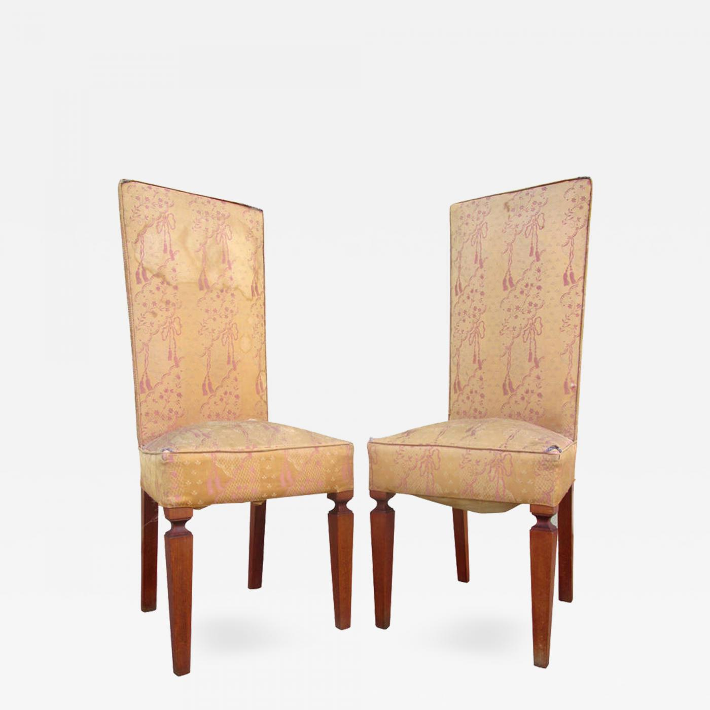 Andre Arbus Set Of 6 French Art Deco Chairs In The Manner Of Andre