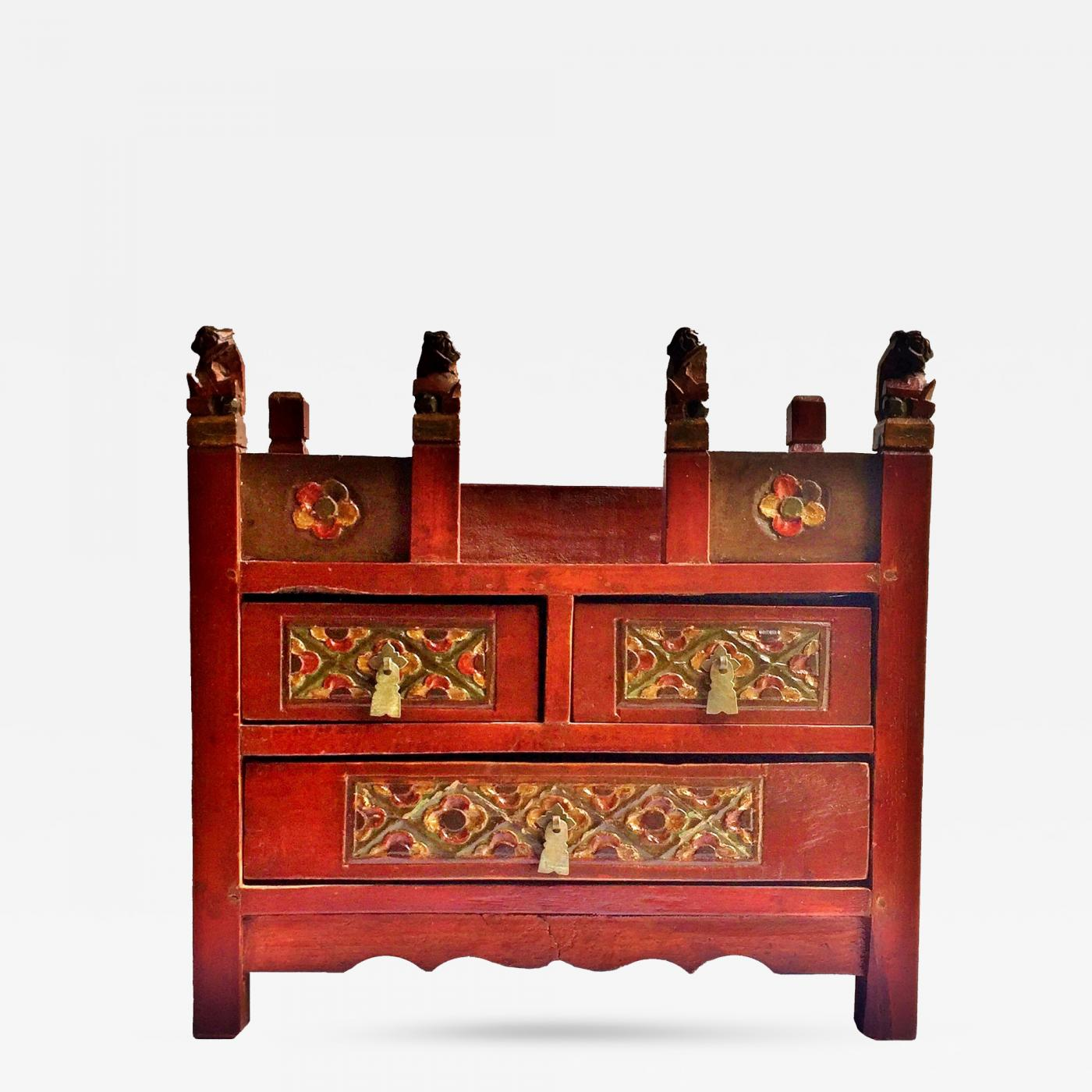 red lacquered furniture. listings / decorative arts objects miniature furniture red lacquered