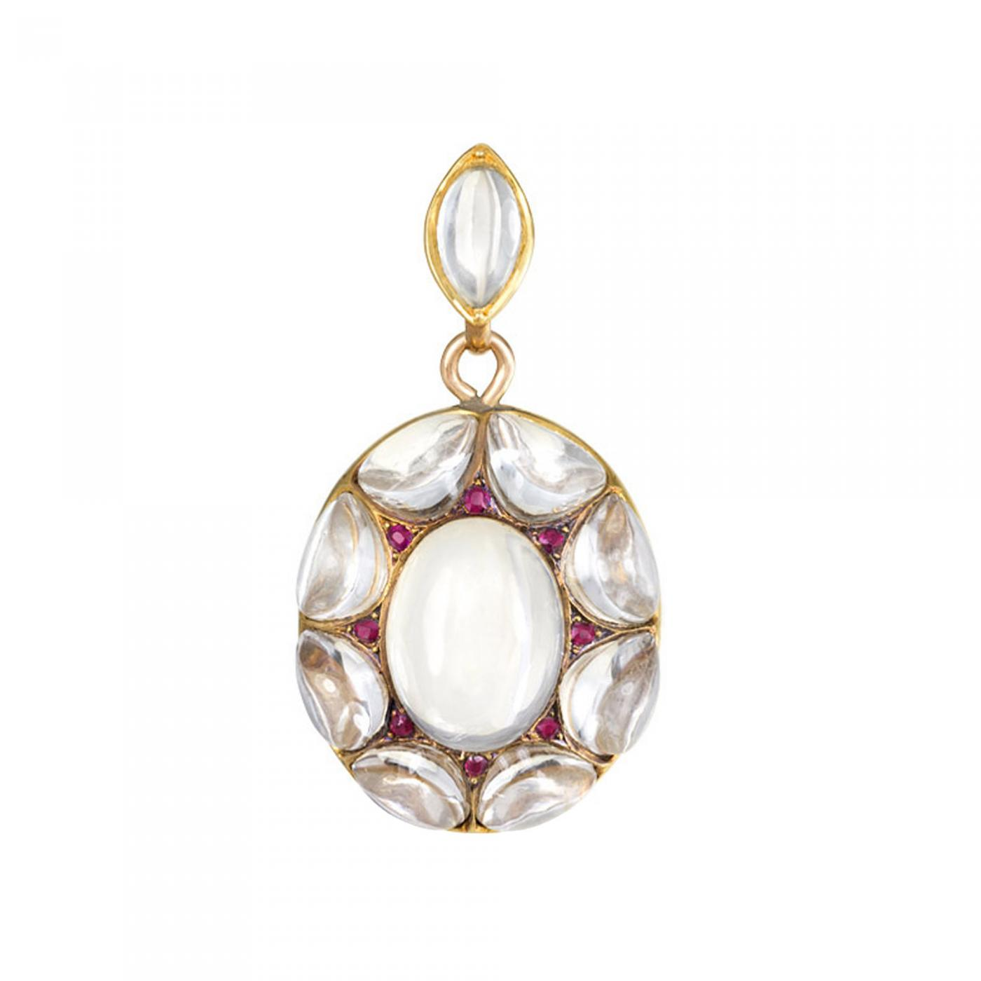 Antique carved rock crystal and ruby locket listings jewelry necklaces pendants drop pendant antique carved rock crystal aloadofball Images