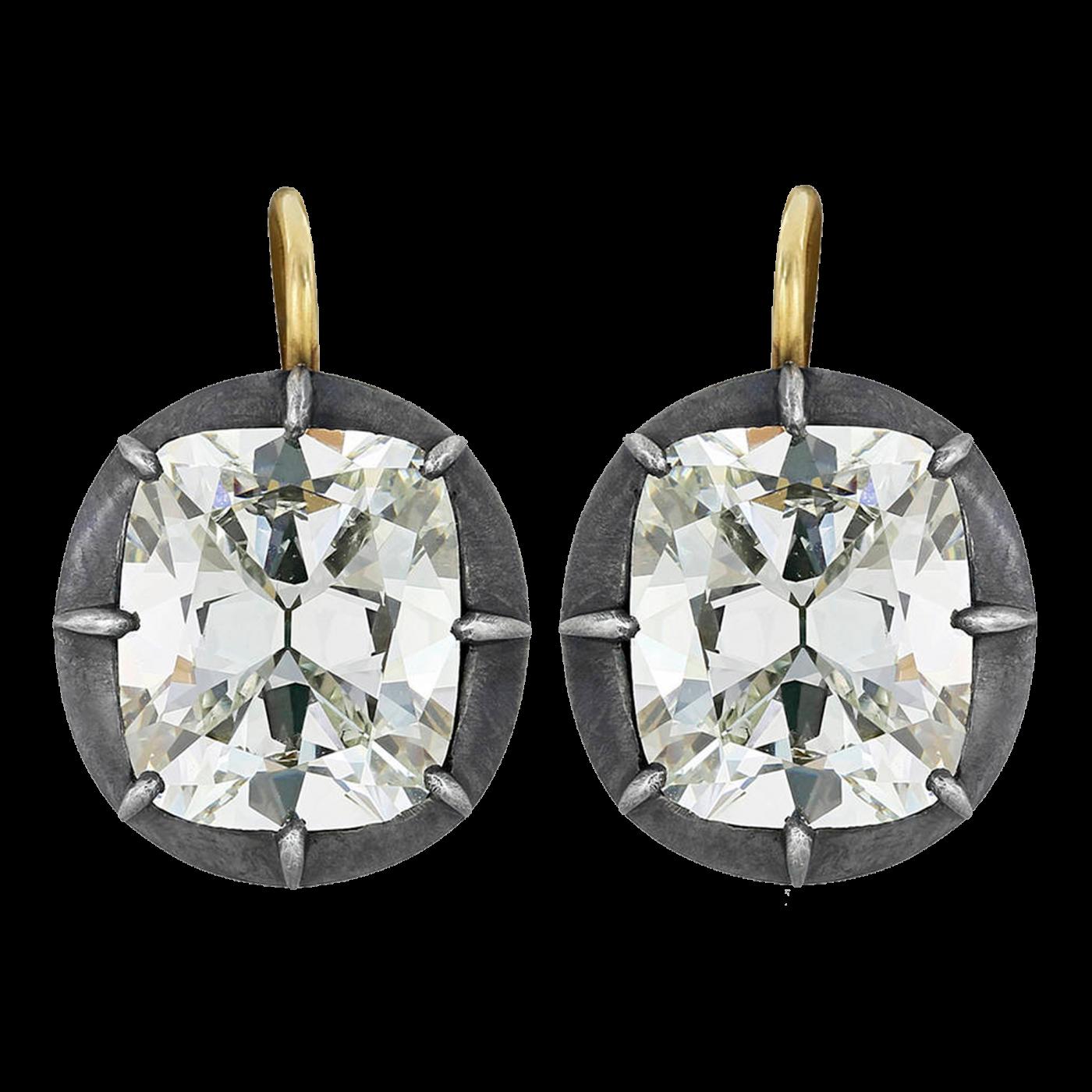 Drop · Antique Cushion Cut Diamond