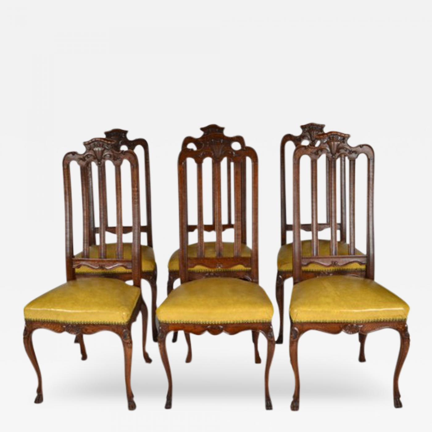 Awe Inspiring Antique Set Of Six Louis Xiv Oak Dining Chairs Caraccident5 Cool Chair Designs And Ideas Caraccident5Info
