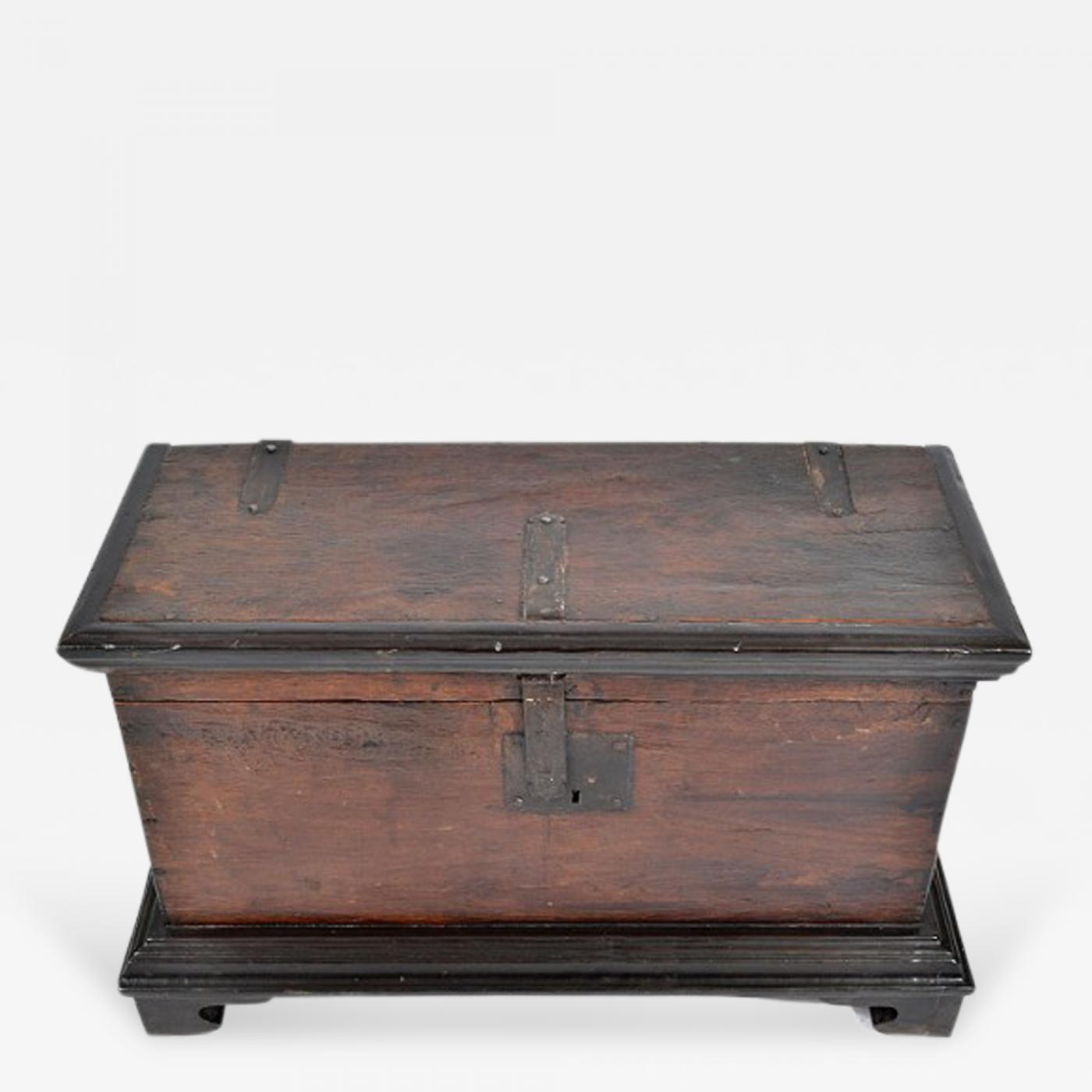 Antique Spanish Colonial Rosewood and Ebony Document Box 18th C