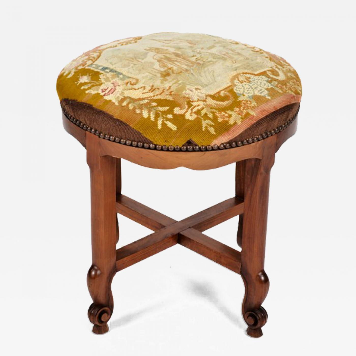 Listings / Furniture / Seating / Stools · Antique Vanity ... - Antique Vanity Stool - Vanity Bench, Louis XV - Country French Style