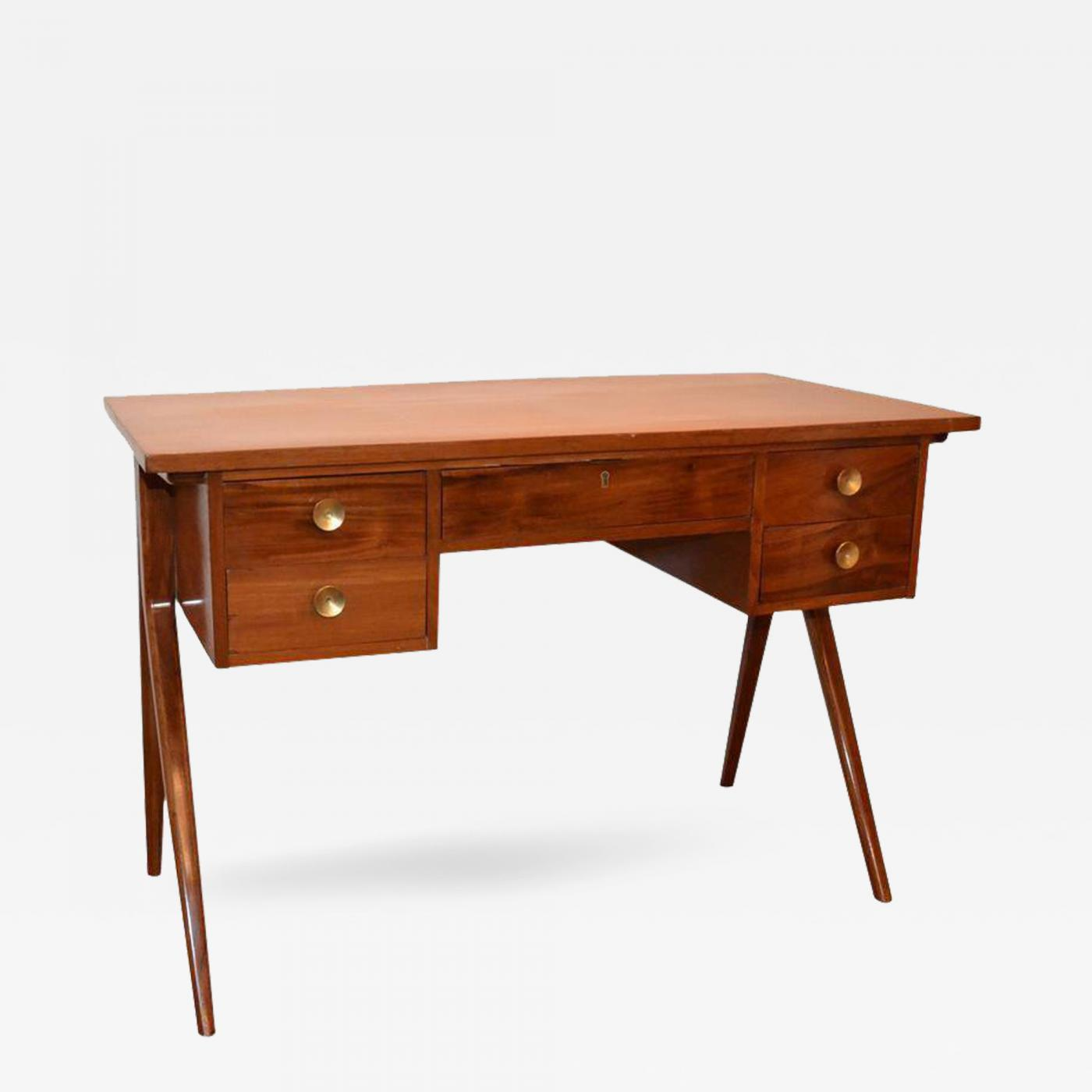 writing mid desk furniture chairish product modern by century ward