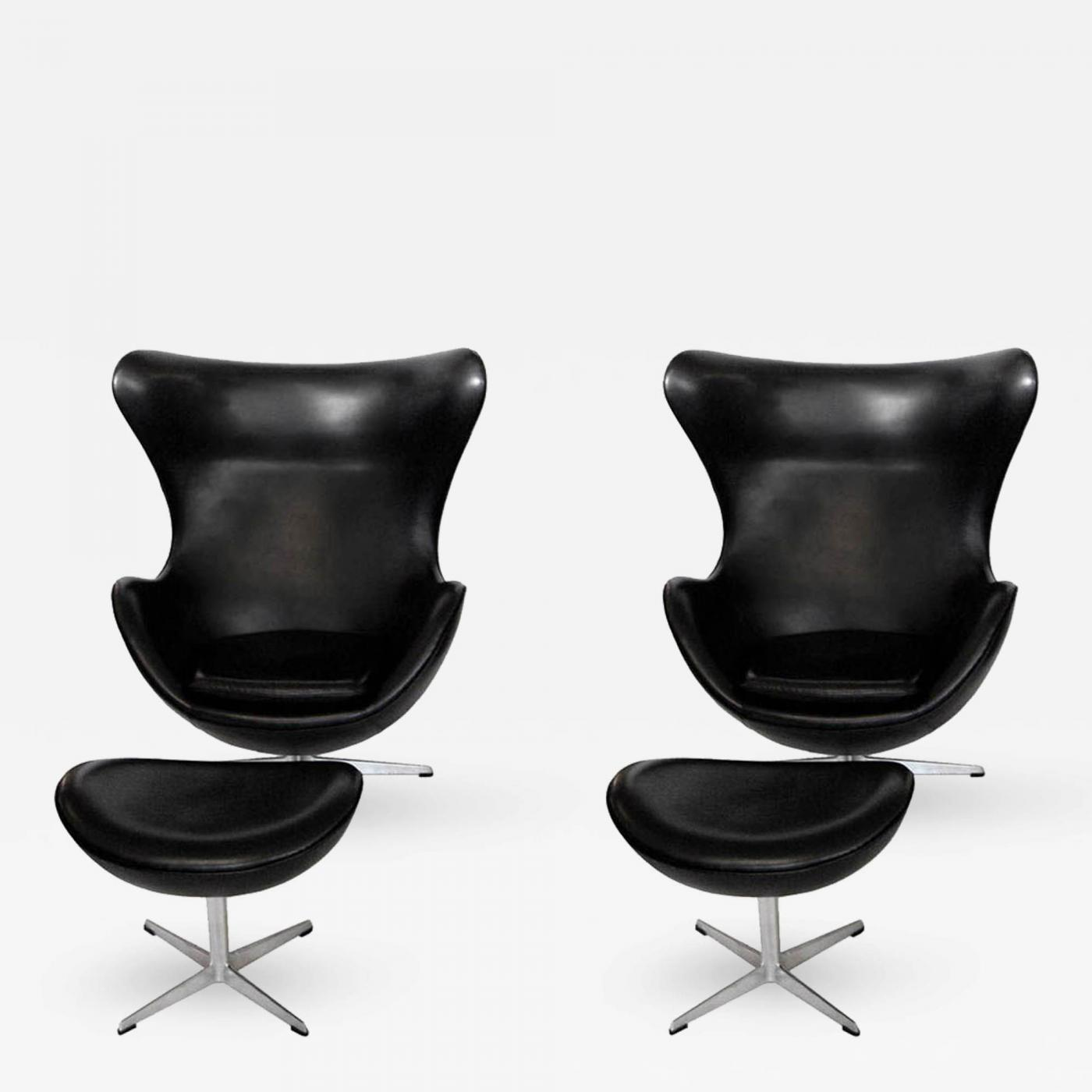 Arne Jacobsen Early Arne Jacobsen Egg Chair W Ottoman