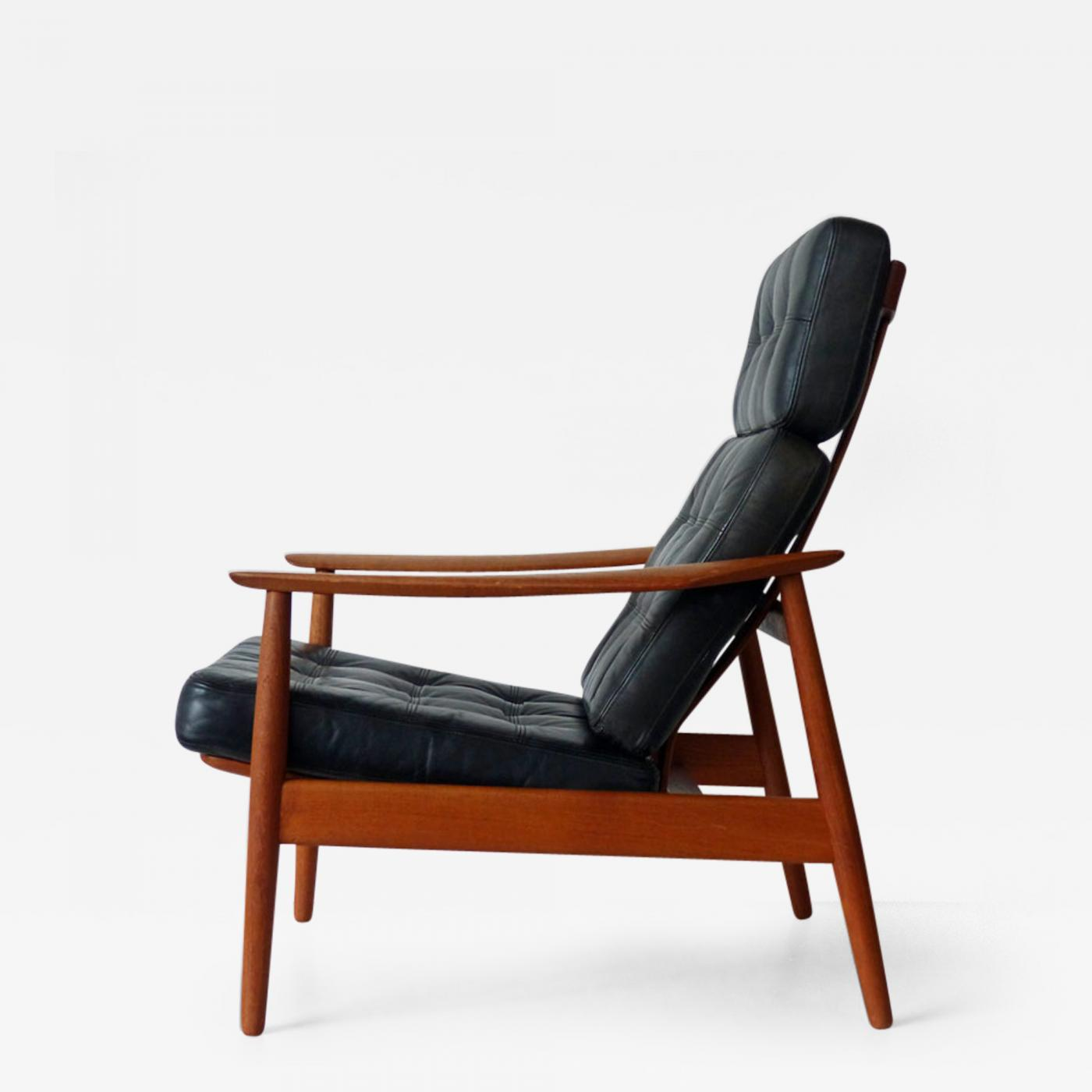 Arne Vodder Lounge Chair with Ottoman