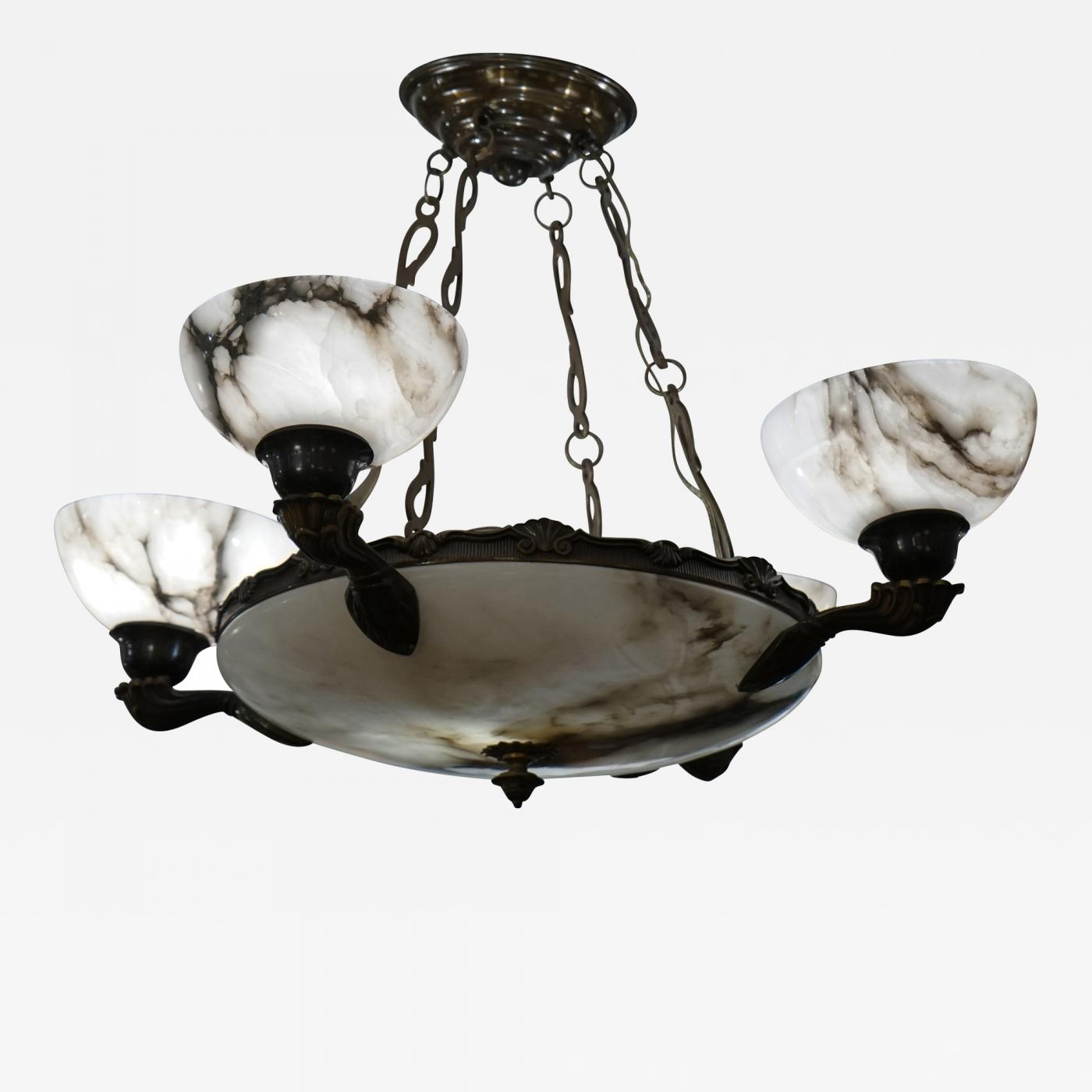 Art deco alabaster chandelier listings furniture lighting chandeliers and pendants arubaitofo Images
