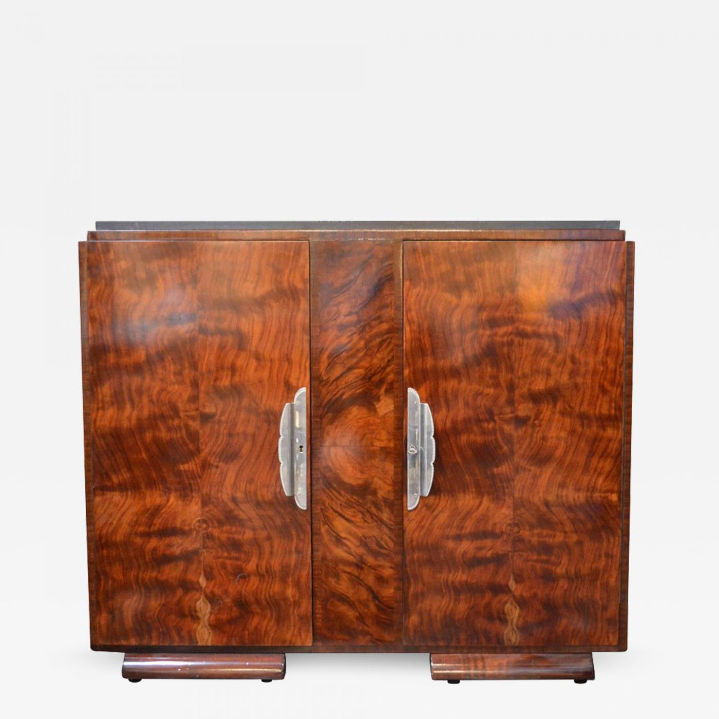 Listings / Furniture / Case Pieces U0026 Storage / Cabinets · Art Deco Burl  Wood Cabinet