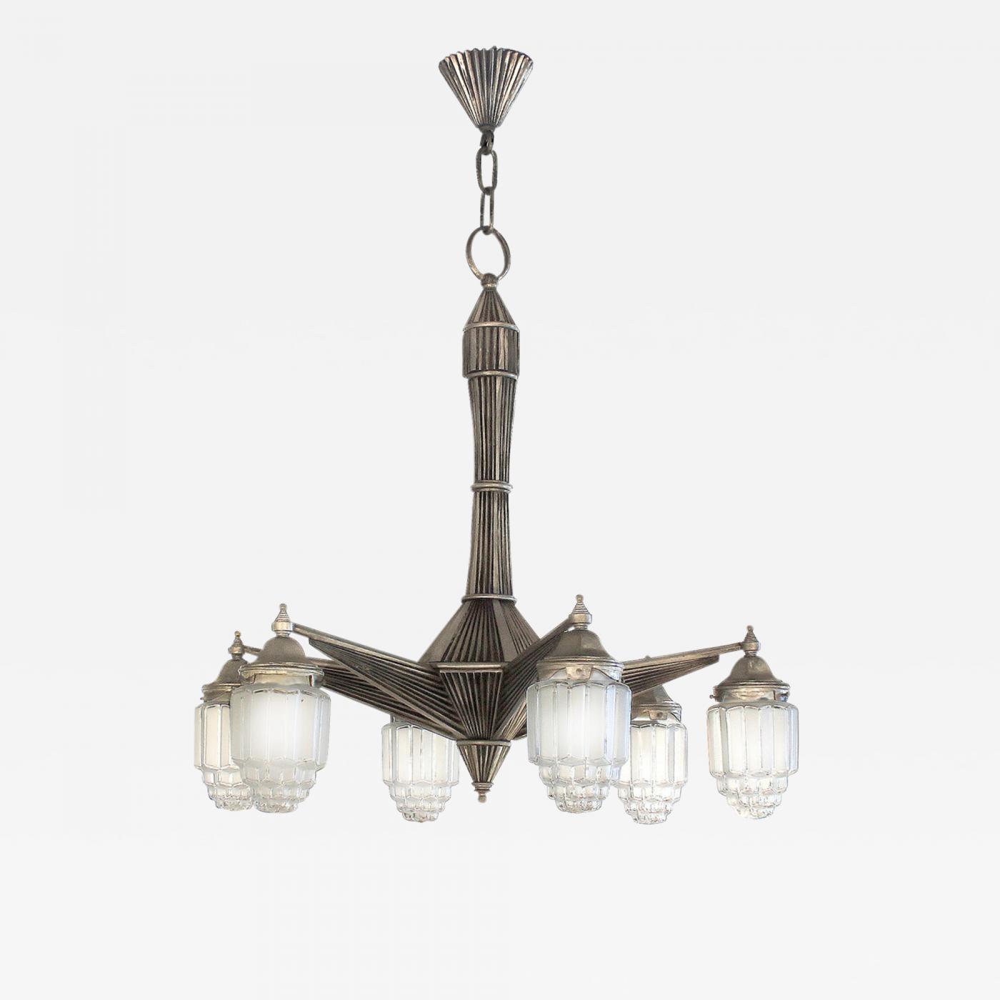 Listings furniture lighting chandeliers and pendants · art deco chandelier with skyscraper