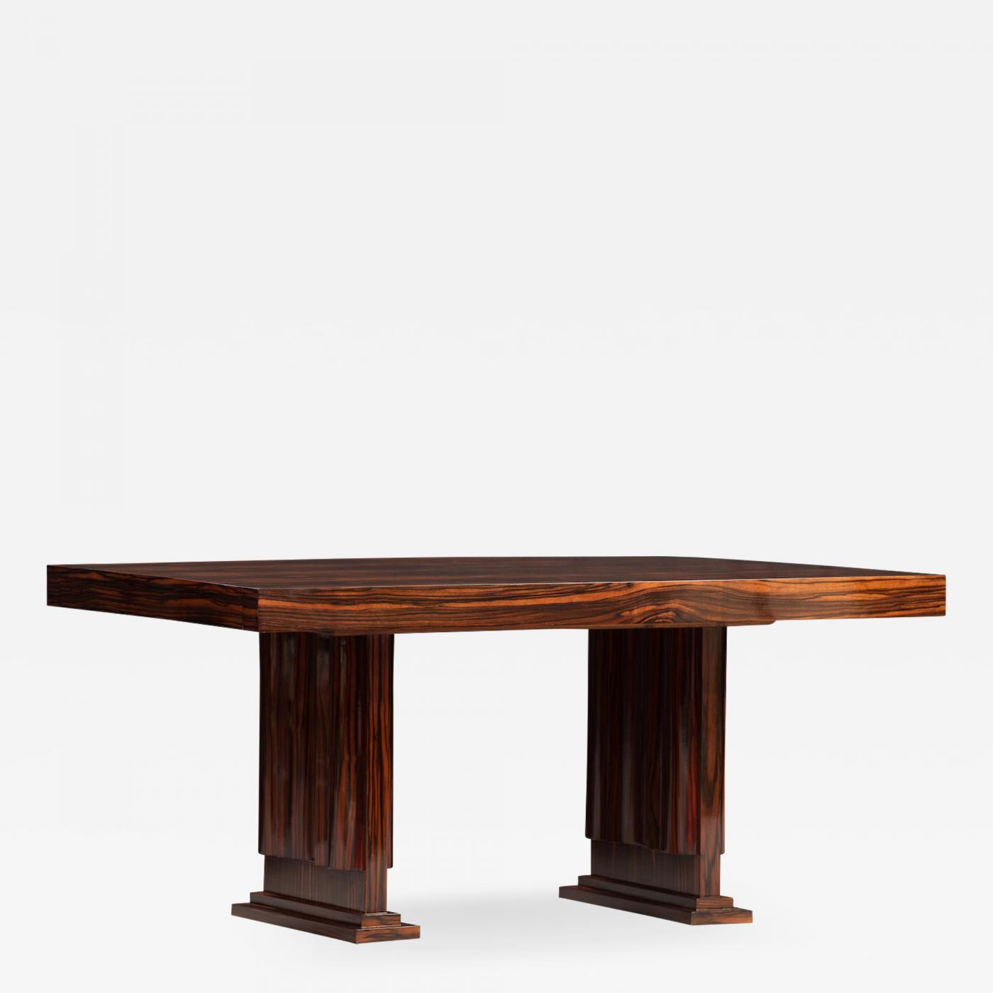 Listings / Furniture / Tables / Dining Tables · Art Deco Macassar Ebony ...
