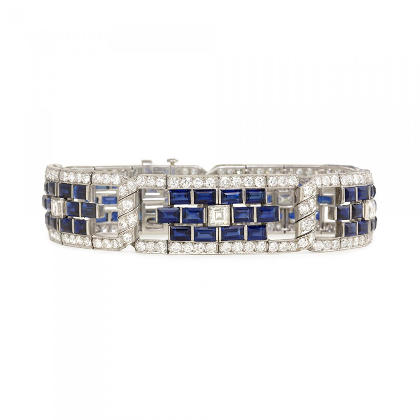 bracelet silver sapphire created diamonds in sapphires sterling with diamond