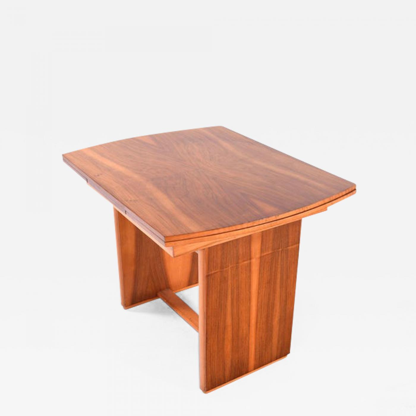 Art Deco Walnut Extending Dining Table