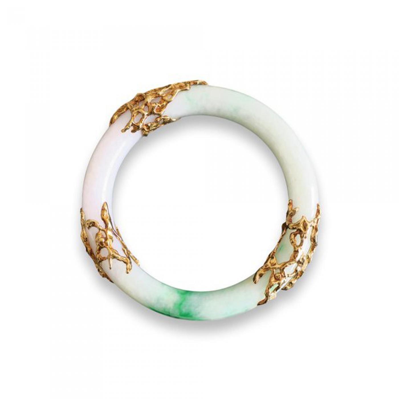 94c7acf69 Arthur King - Arthur King Jade and Gold Bangle Bracelet