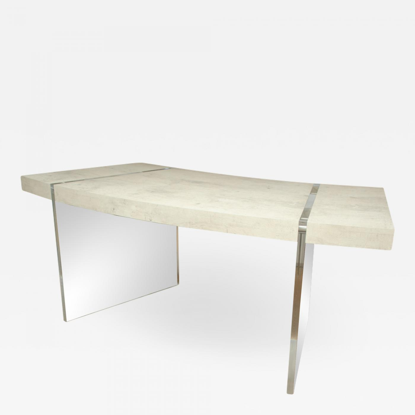 Attractive 1 Drawer Desk With Lucite Legs