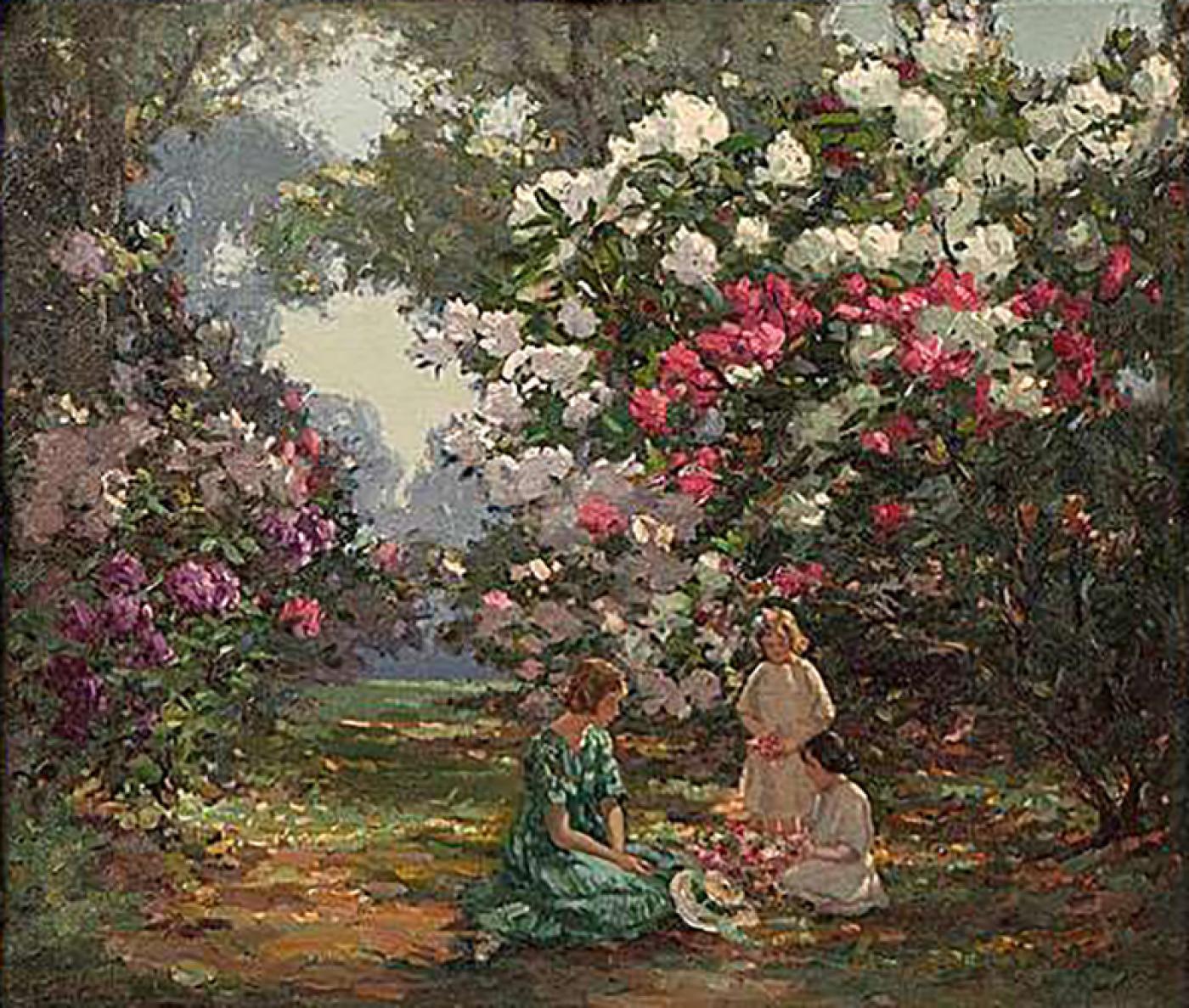 Augustus W. Enness - 20th Century English Painting of \'Kew Gardens ...