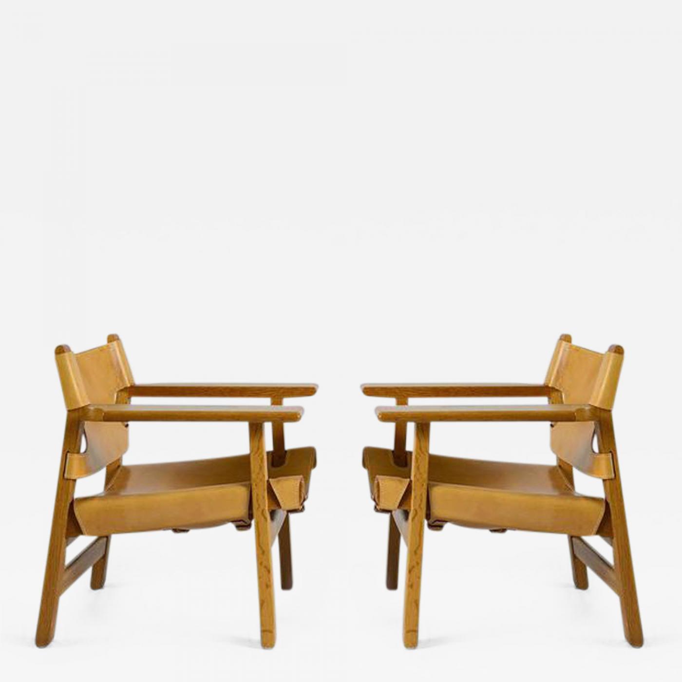børge mogensen pair of børge mogensen spanish chairs