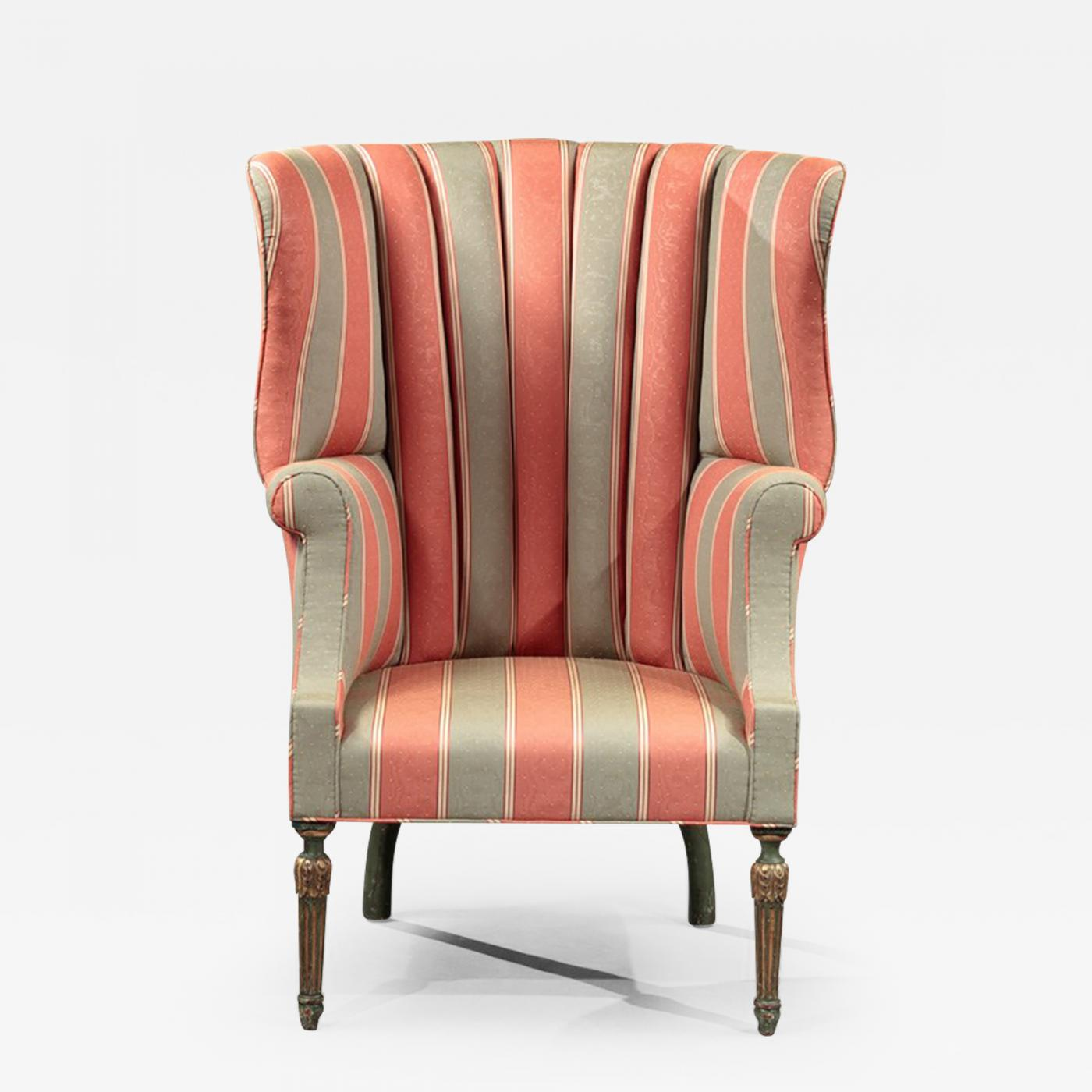 Picture of: Barrel Back Wing Chair