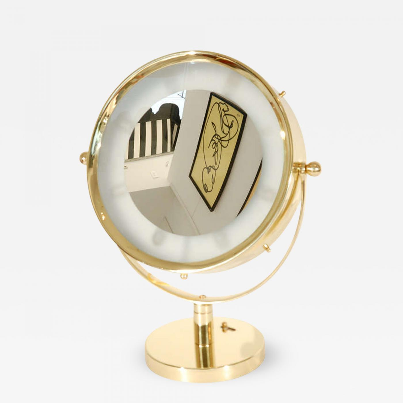 Beautiful Illuminated Brass Vanity Mirror