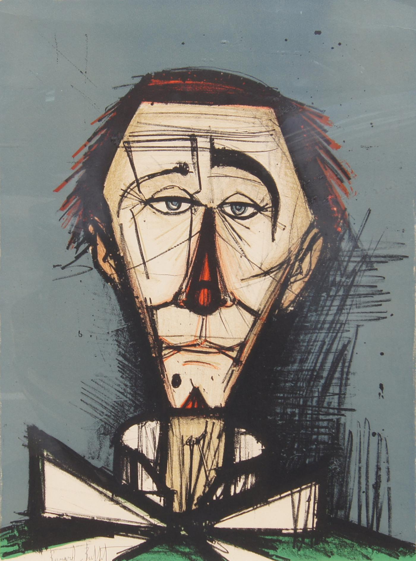 Fine Bernard Buffet Bernard Buffet Color Lithograph Clown Head 32 120 Interior Design Ideas Apansoteloinfo