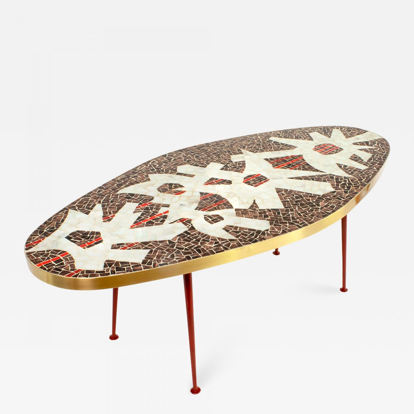 berthold muller mid century modern mosaic coffee table rh incollect com mosaic coffee table next mosaic coffee table diy