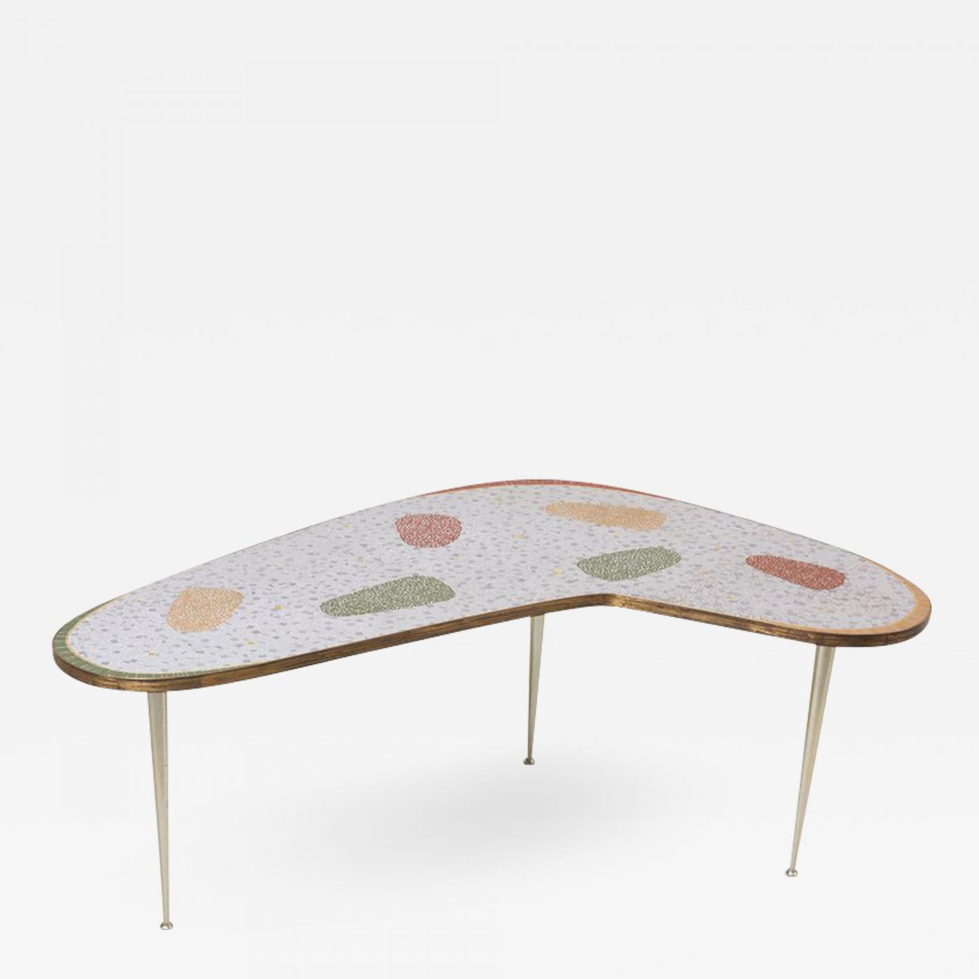 - Berthold Muller - Vintage Boomerang Coffee Table By Berthold Müller