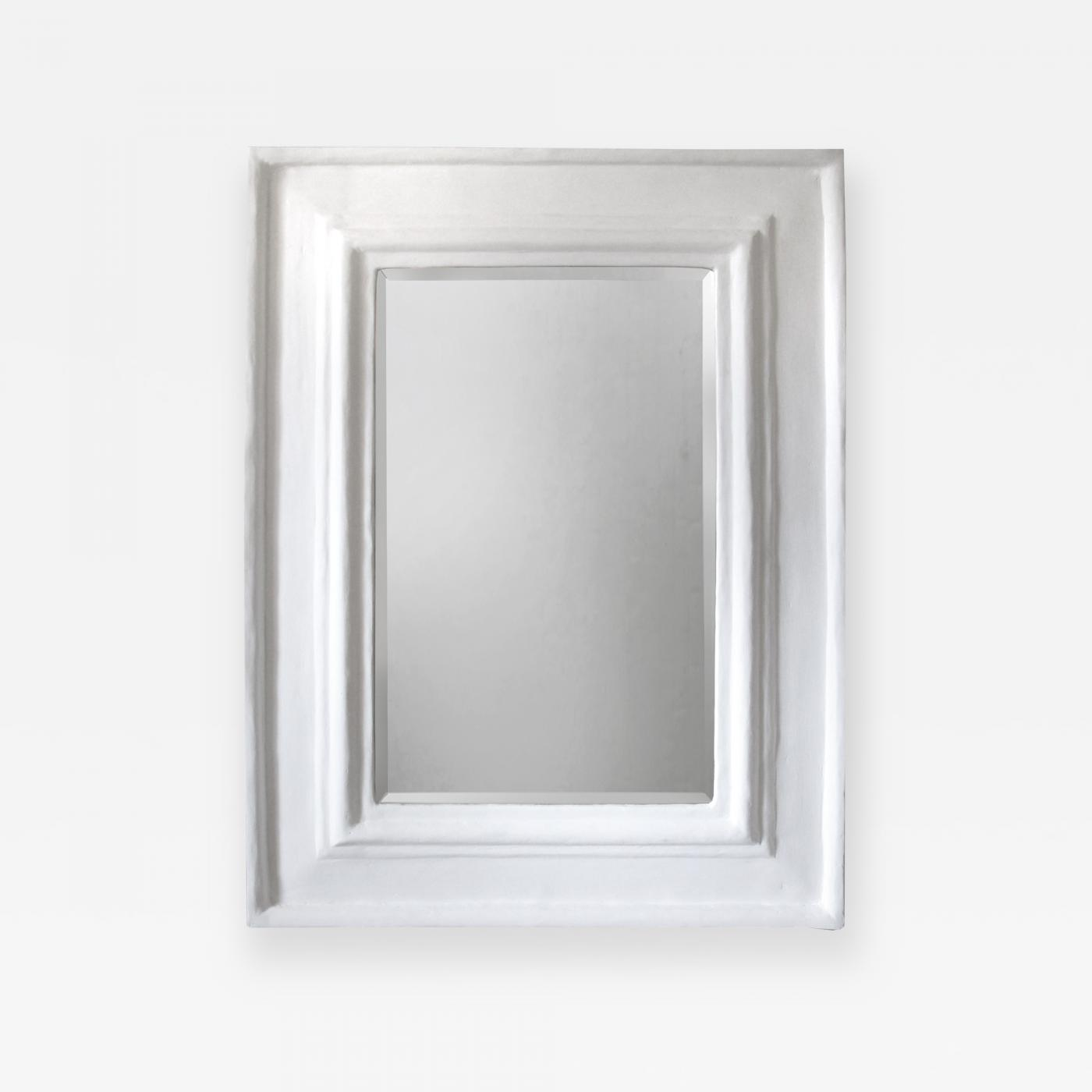 Beveled Mirror with Plaster Frame