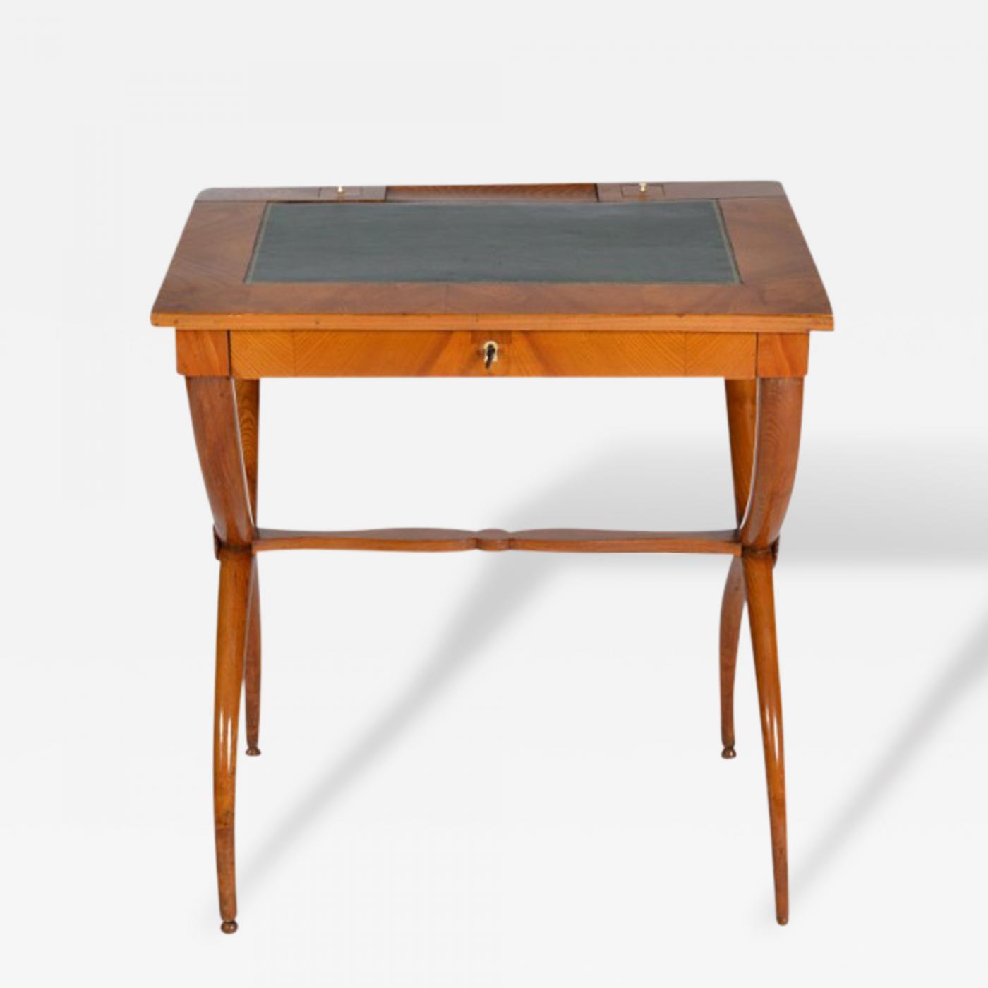 Biedermeier Slant Front Writing Desk
