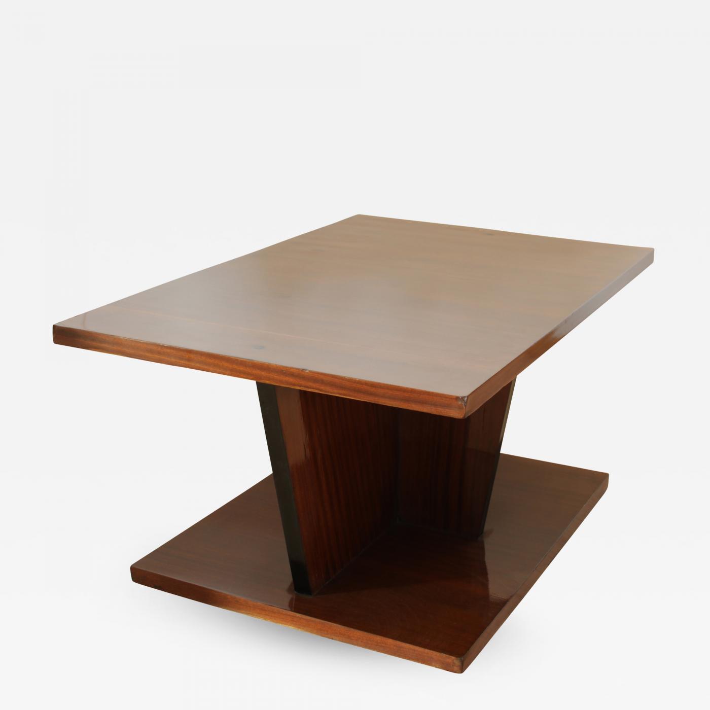 Big Art Deco Side Table Walnut Veneer France Circa 1930