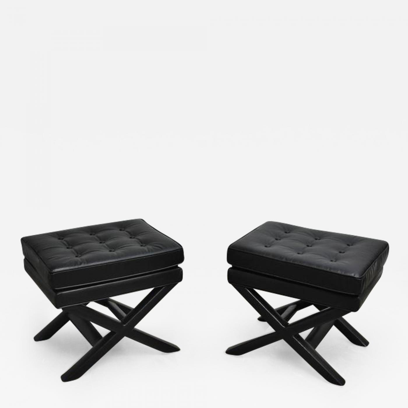 Sensational Black Leather X Base Stools Beatyapartments Chair Design Images Beatyapartmentscom