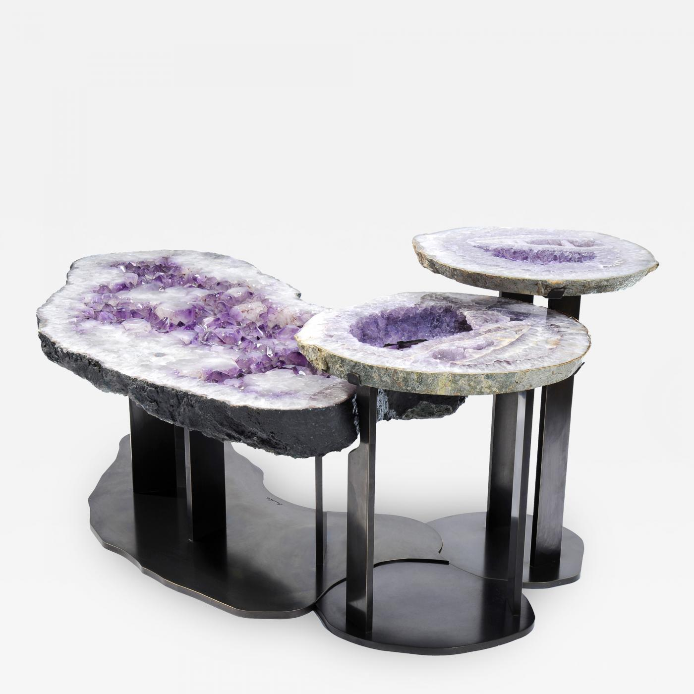Brenda Houston Agate Coffee Table Caffe de Trio Agata