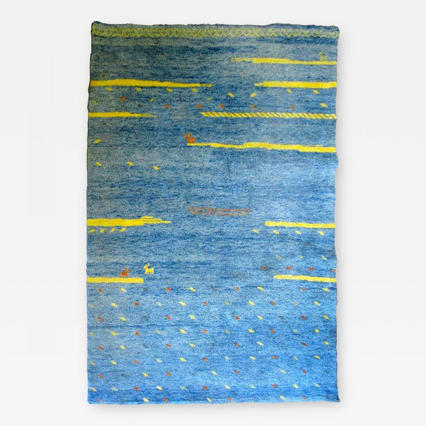 Listings / Decorative Arts / Textiles / Rugs & Carpets  Bright Blue ...