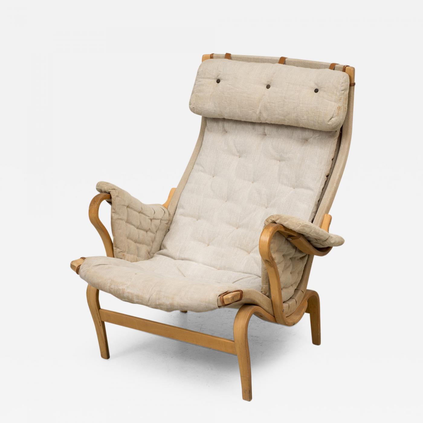 Bruno Mathsson Pernilla Lounge Chair by Bruno Mathsson 1960 s
