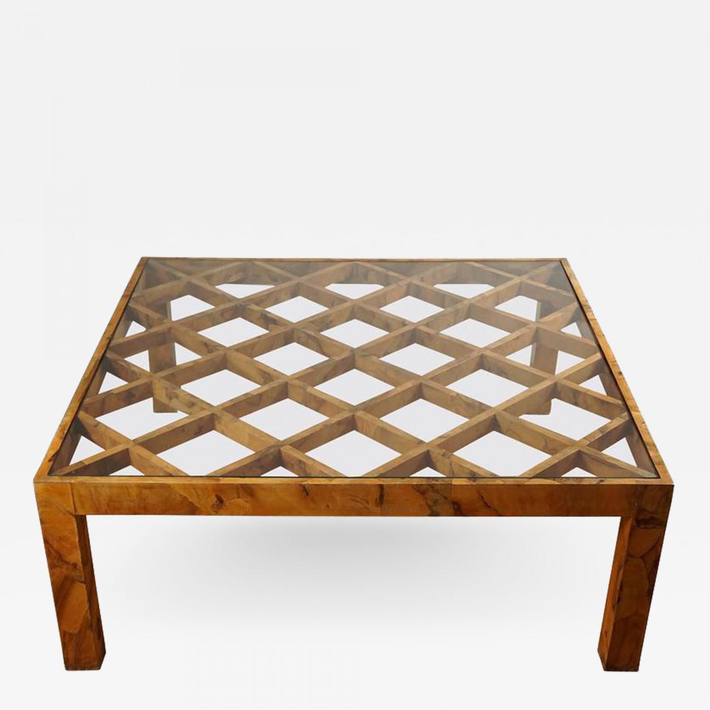 - Burl Wood Coffee Table