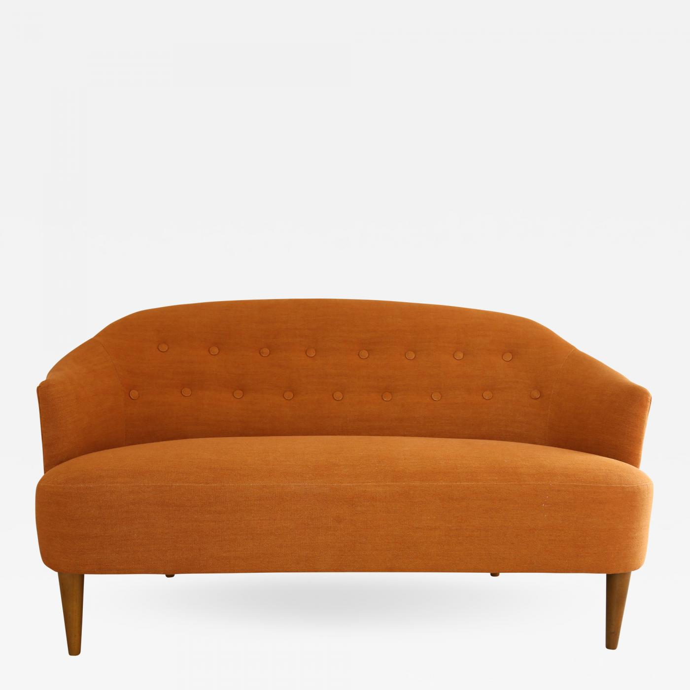 Swedish Mid-Century Modern Carl Malmsten Berlin Design 2 Seater ...