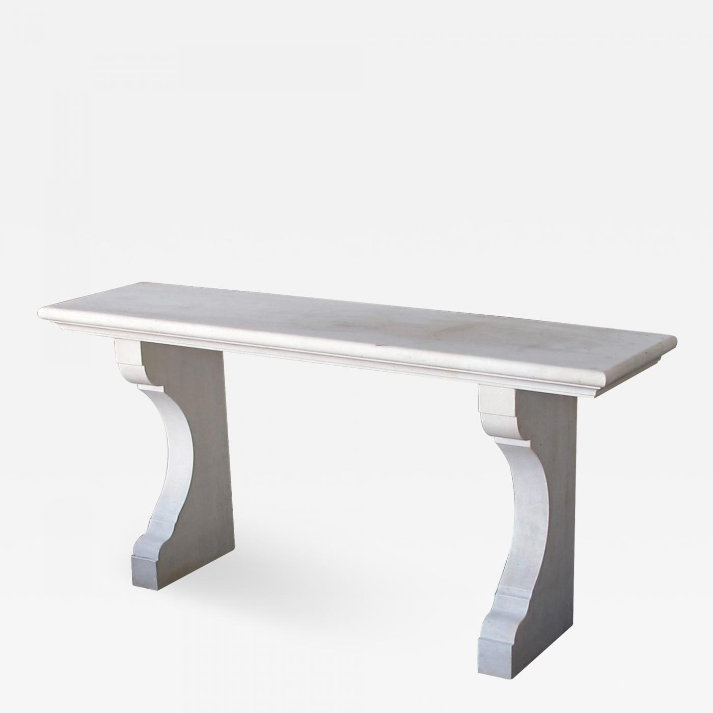 Picture of: Carved French Limestone Indoor Outdoor Wall Console Table