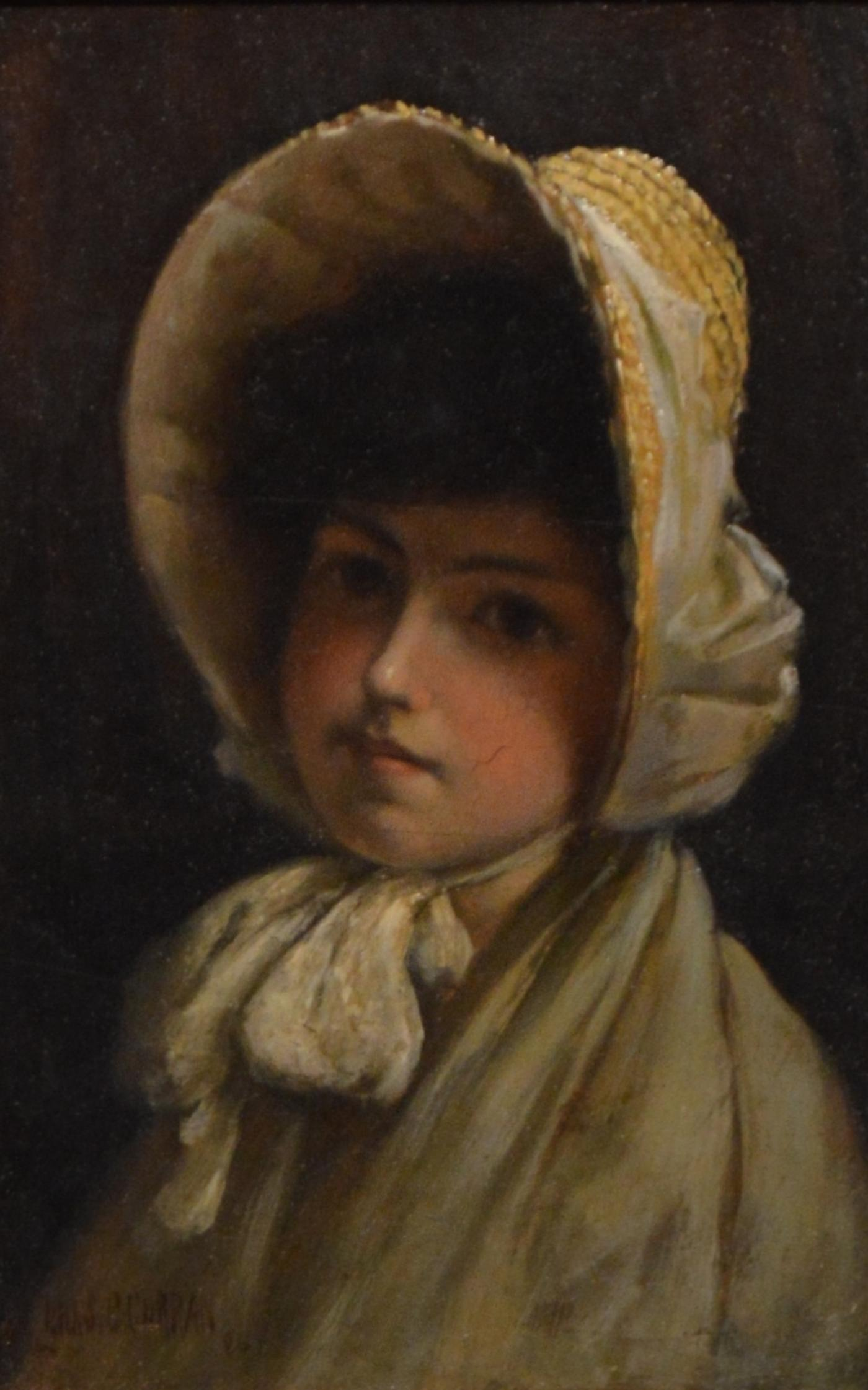 Charles Courtney Curran Quot Young Girl In Bonnet Quot