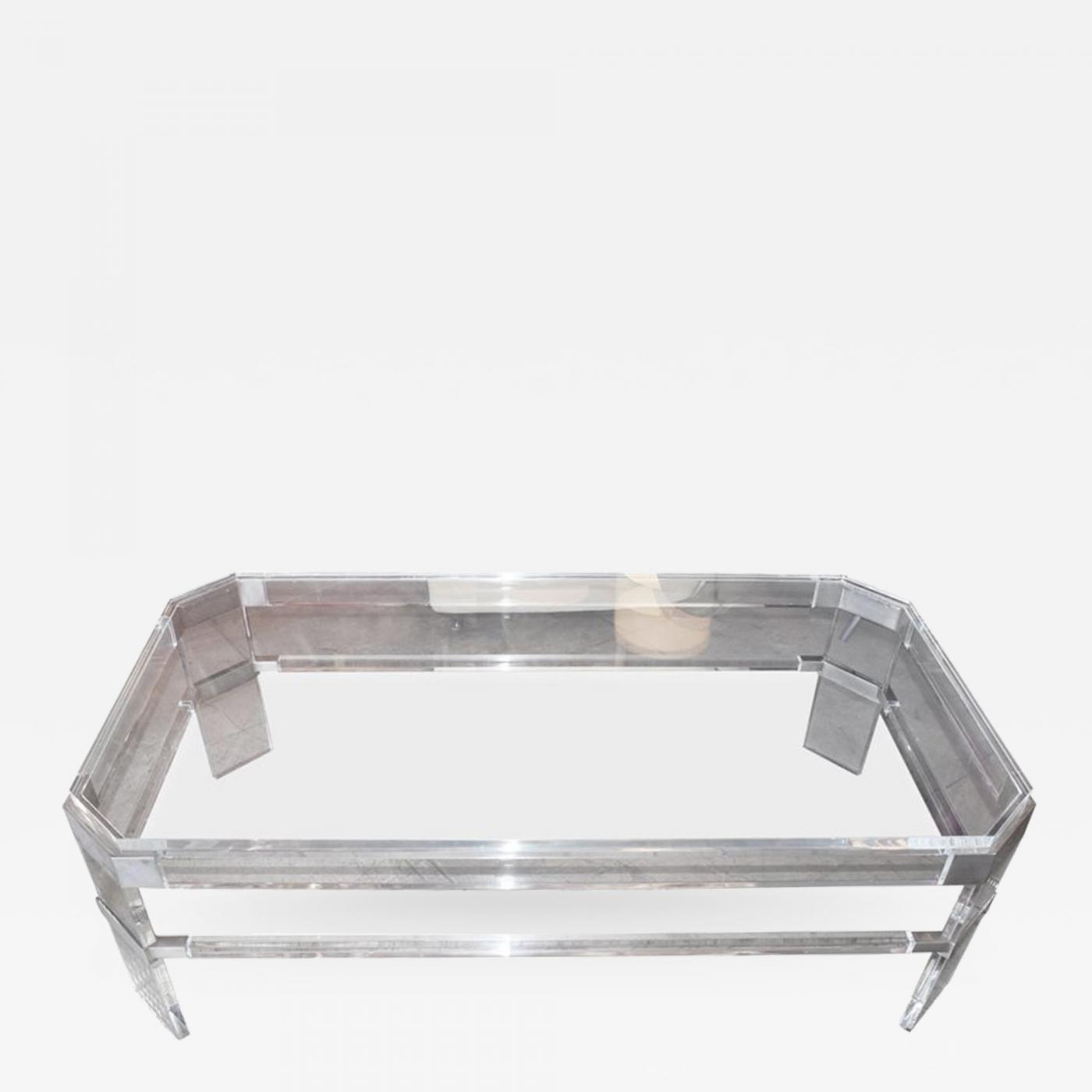 1965 Lucite Coffee Table By Charles Hollis Jones