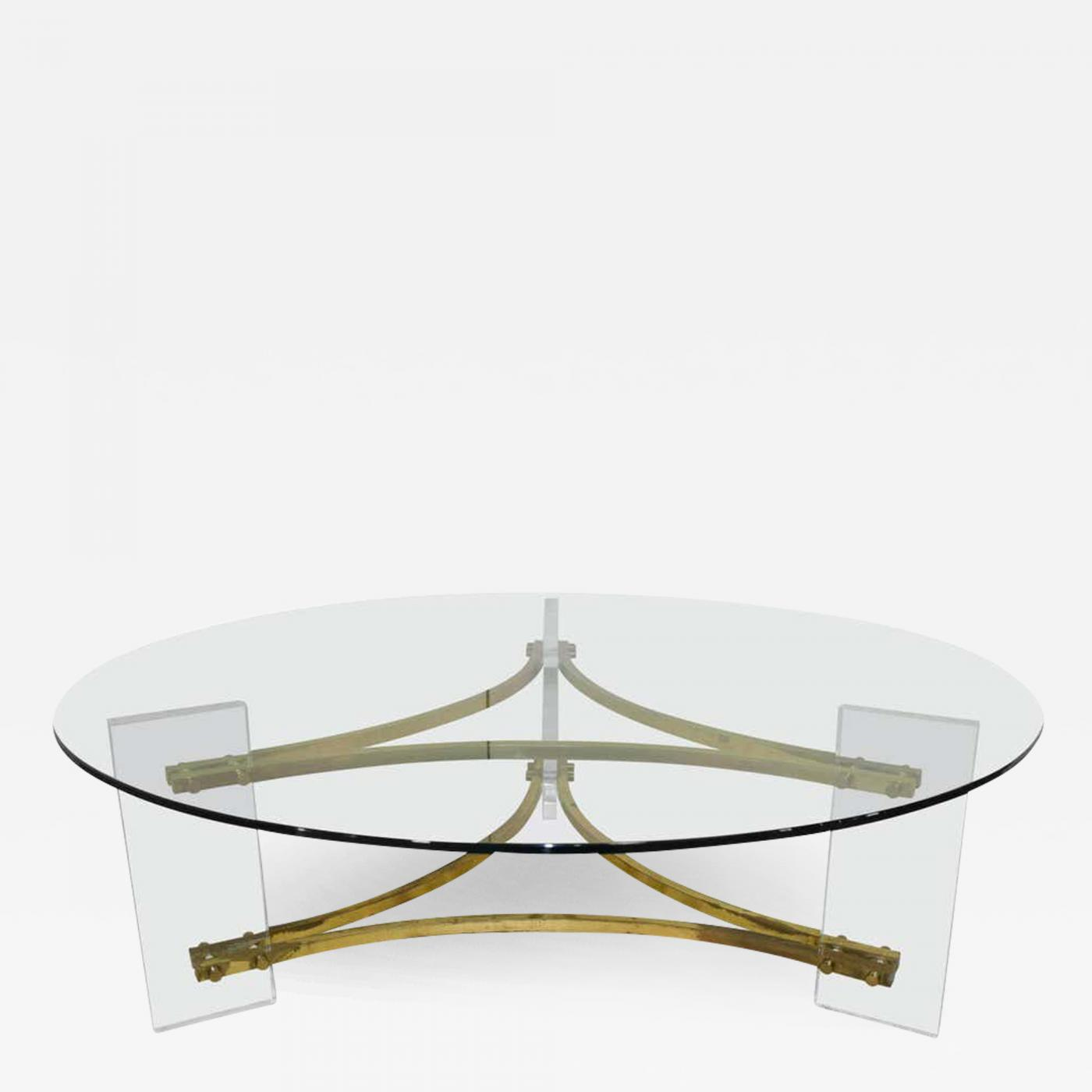 charles hollis jones charles hollis jones mid century modern brass lucite round glass coffee table
