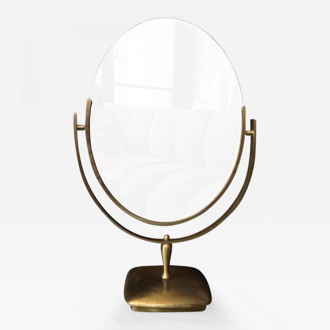 Charles Hollis Jones Large Brass Vanity Mirror By Charles Hollis Jones