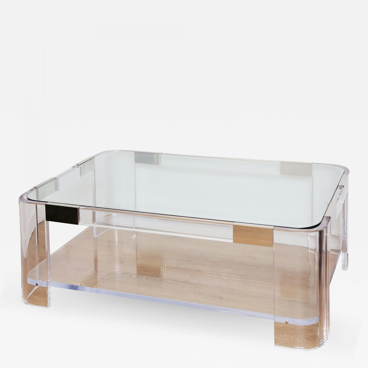 Super Charles Hollis Jones Large Lucite Two Tier Coffee Table By Charles Hollis Jones Ocoug Best Dining Table And Chair Ideas Images Ocougorg