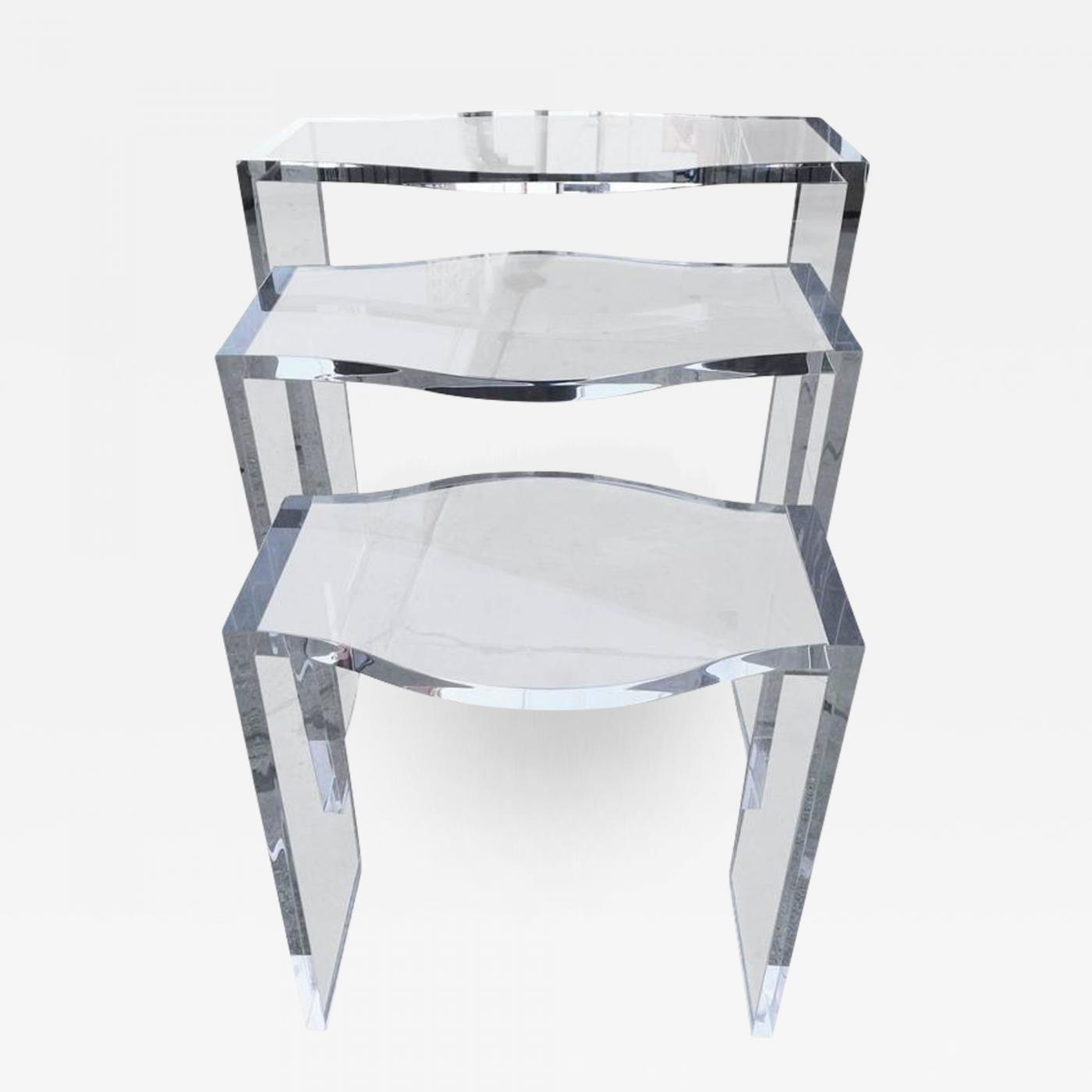 Charles hollis jones lucite nesting tables by charles hollis jones listings furniture tables side tables charles hollis jones lucite nesting watchthetrailerfo