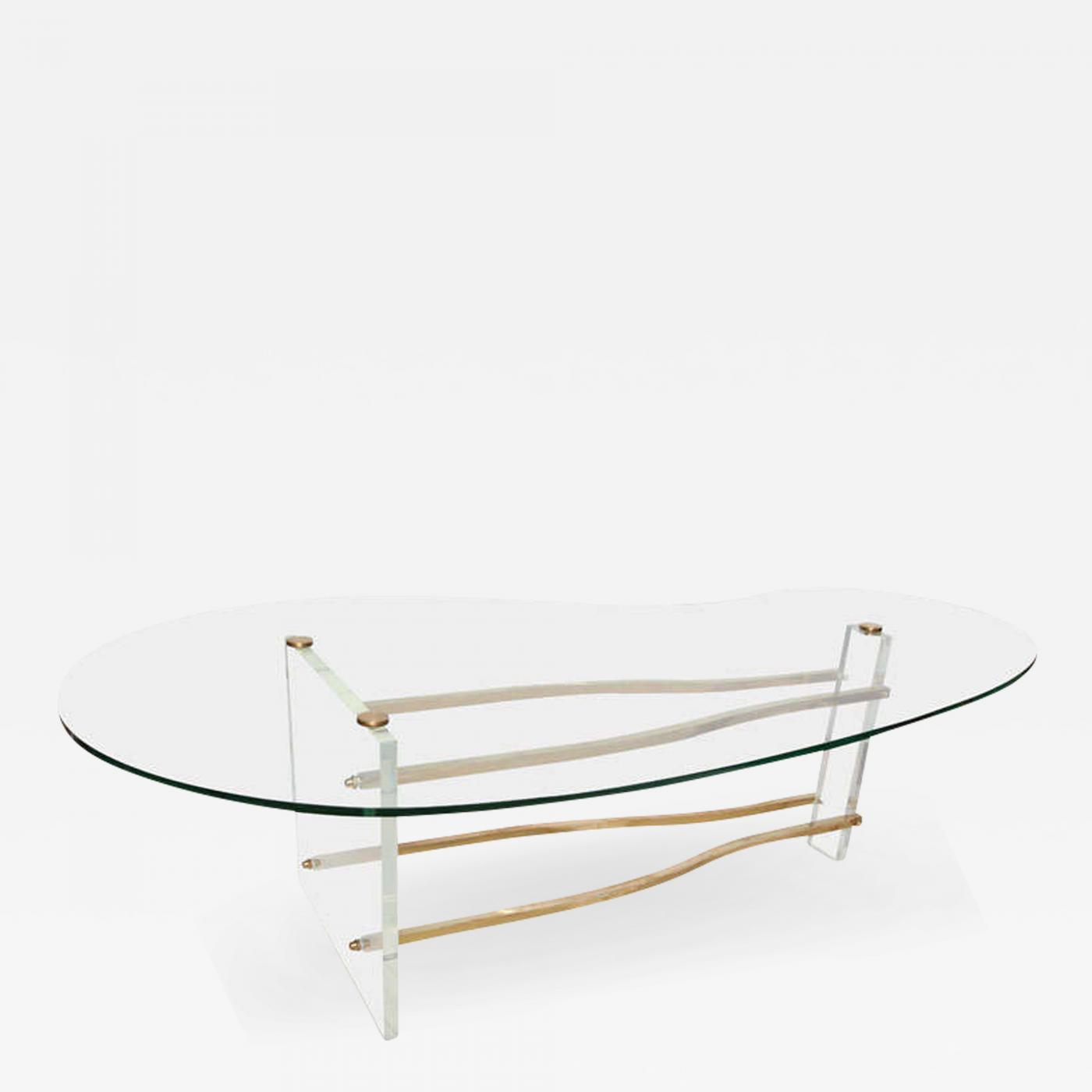 glass form furniture coffee table listings furniture tables coffee charles hollis jones midcentury glass brass and lucite kidney