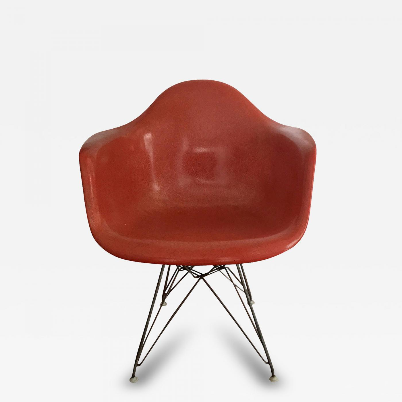 Charles & Ray Eames Early Fiberglass Shell DAR Chair by Charles