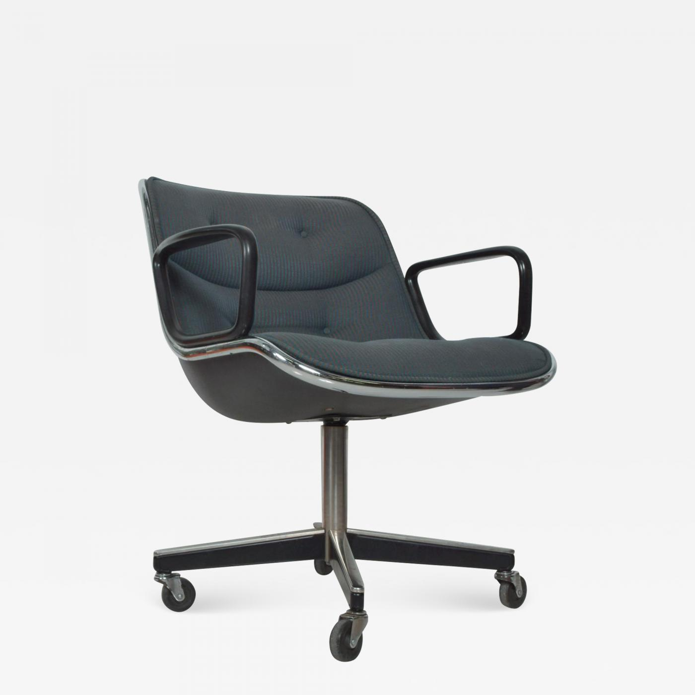 Charles Pollock - Charles Pollock Office Chair for Knoll With Upholstery  Mid Century Modern