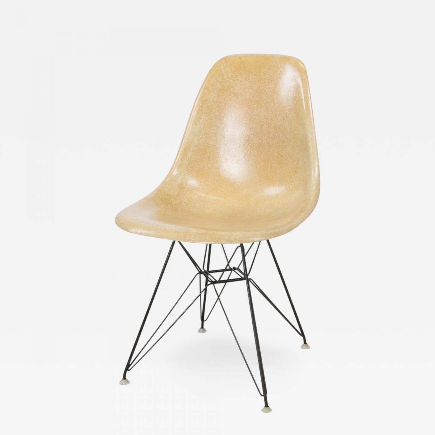 Listings / Furniture / Seating / Side Chairs · Charles Ray Eames DSR Eiffel  Base ...