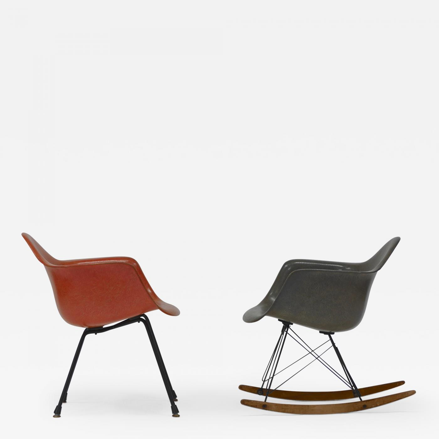 Charles & Ray Eames Iconic Rocker and Lounge Chair by Charles